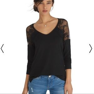 White House Black Market lace yoke top